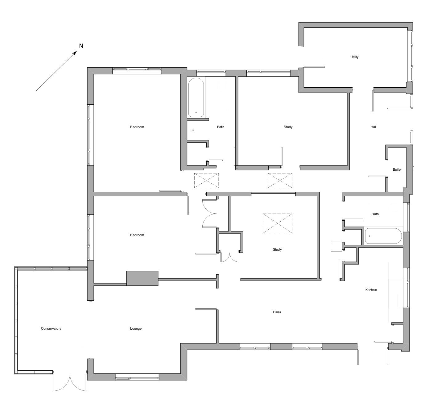 What we wanted to fix our schwoerer houseour schwoerer house for Floor plans for existing homes